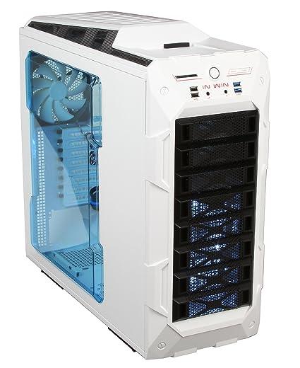 Amazon.com: InWin GR One/White Sleek SECC ATX Full Tower Computer ...