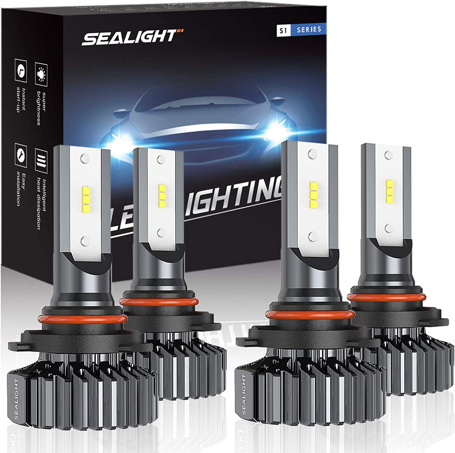 Combo Package CSP Led 6500K White ZonCar 9005//HB3 9006//HB4 LED Headlight Bulbs High beam//Low Beam Halogen Replacement