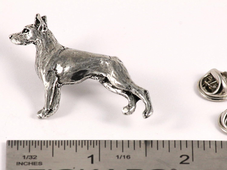 Pomeranian Dog Pewter Lapel Pin Brooch Jewelry D440F