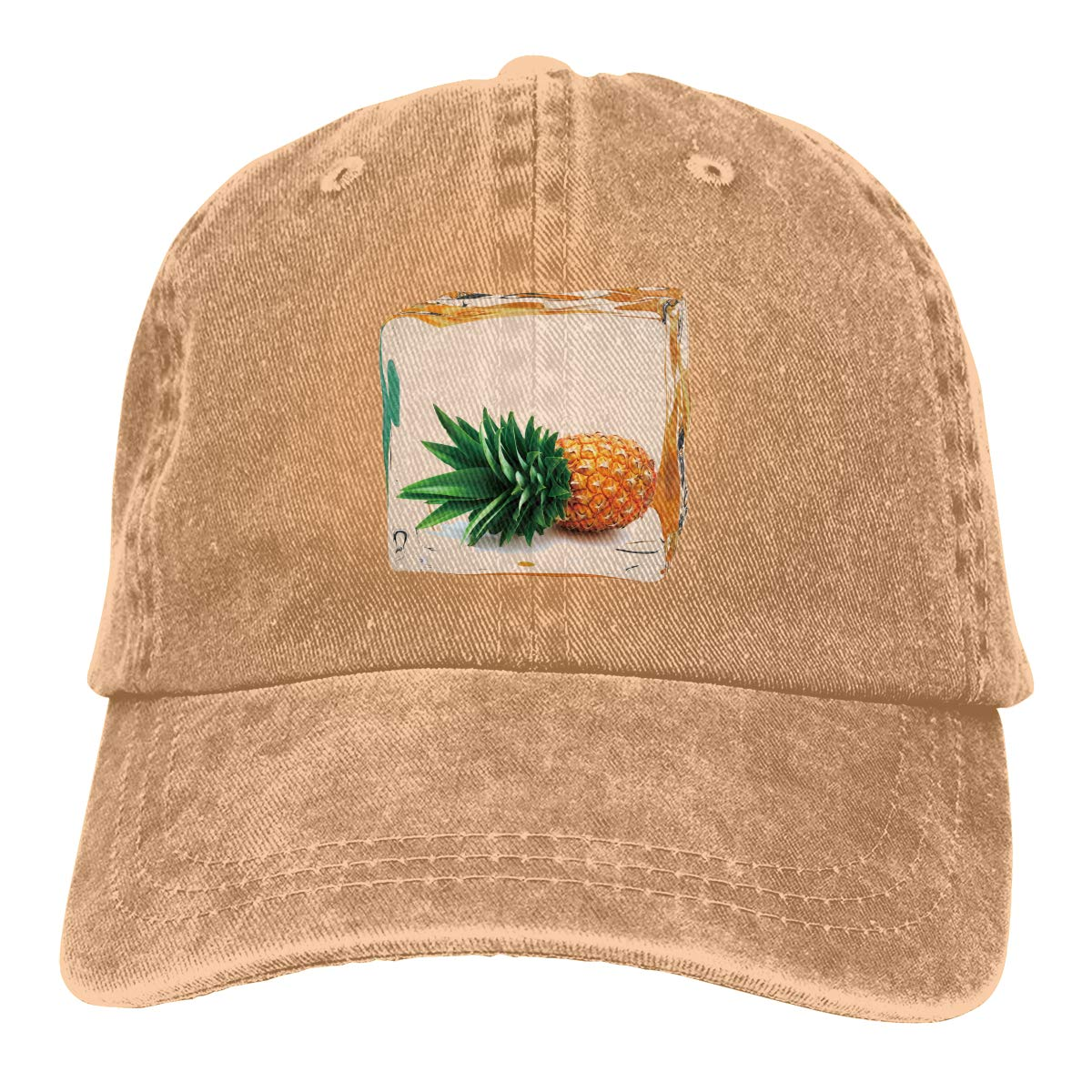 Pineapple Ice Decoration Cowboy Hat Dad Hats Beach Adjustable Cap for Mens Womens