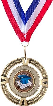 Personalised Graduation Diploma Large Bronze Medal /& Ribbon ENGRAVED FREE T