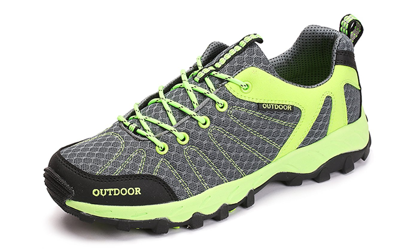 TZTONE Unisex Breathable Quick-Dry Hiking Shoes Mountaineering Shoes for Men Women HS6110136 B075GKMK4Q 11 B(M) US Women = 9.5 D(M) US Men|Green
