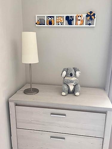 Deco chambre bébé, thème foret, orange gris bleu: Amazon.fr ...