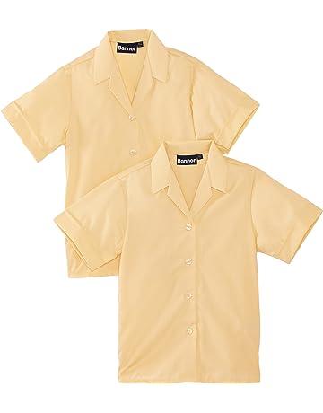 Lyallpur School Uniform Gold//Dark Yellow Polo T Shirts Plain Kids T Shirt Boys Girls Tee Top Sports