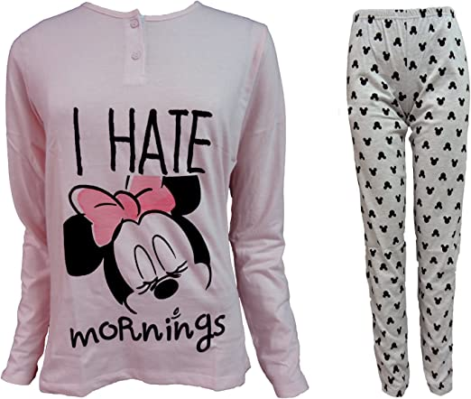 Disney Pijama de Mujer Largo de algodón Jersey Minnie Art ...