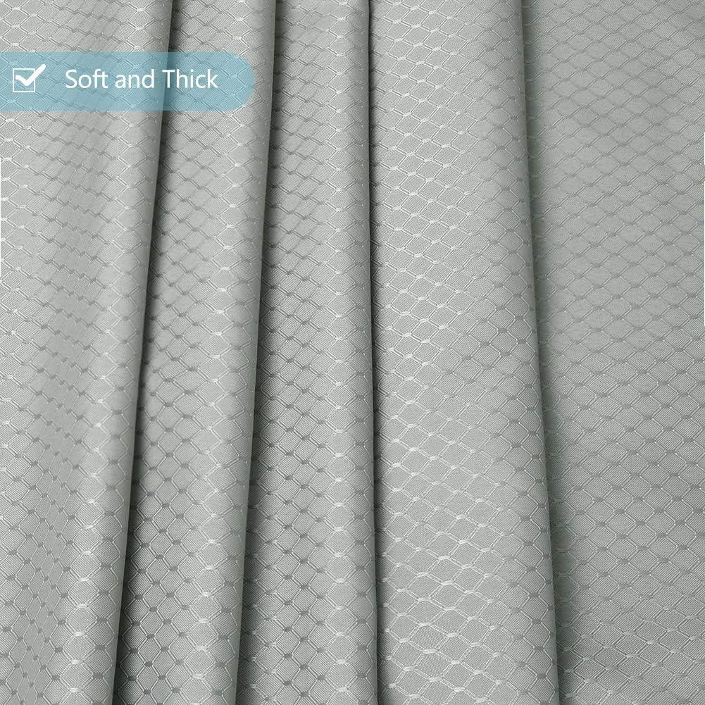 Furlinic Cortina Ducha Antimoho Impermeable Lavable Poli/éster Tela Cortinas de Ba/ño Decorativas con 6 Aros de Cortina Ducha Patr/ón de Panal Azul Marino Esquina 90x180cm.