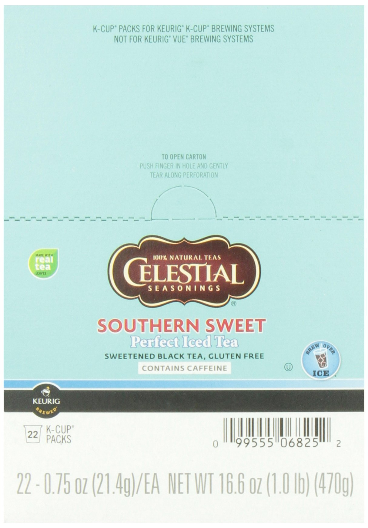 Celestial Seasonings, Perfect Iced Tea, Southern Sweet Iced Tea, K-Cup Portion Pack for Keurig K-Cup Brewers (Pack of 22) by Green Mountain Coffee