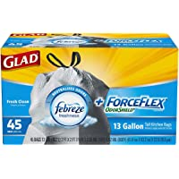 Glad Odor Shield Force Flex Tall Drawstring Garbage Bags 45 ct (2 Pack)