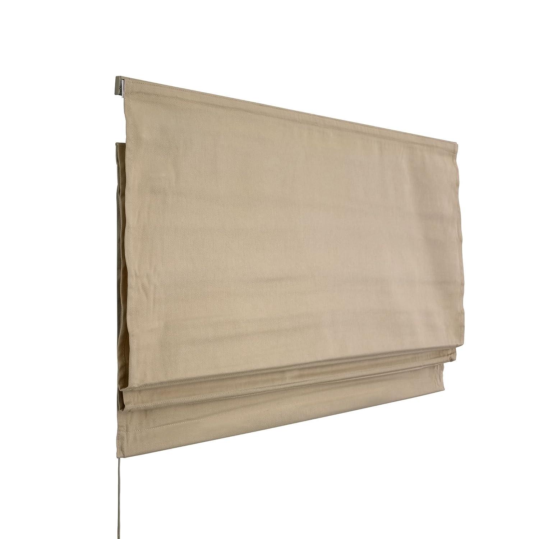 VICTORIA M Tenda a pacchetto per finestra 80 x 175 cm, colore: beige