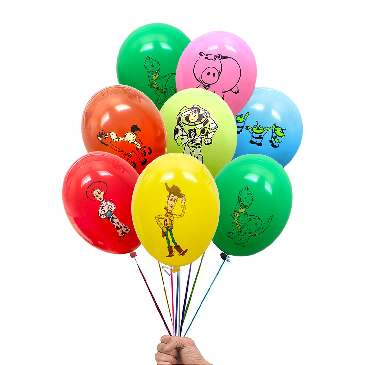Toy Story Woody and Friends 21 Count Party Balloon Pack - Large 12'' Latex Balloons