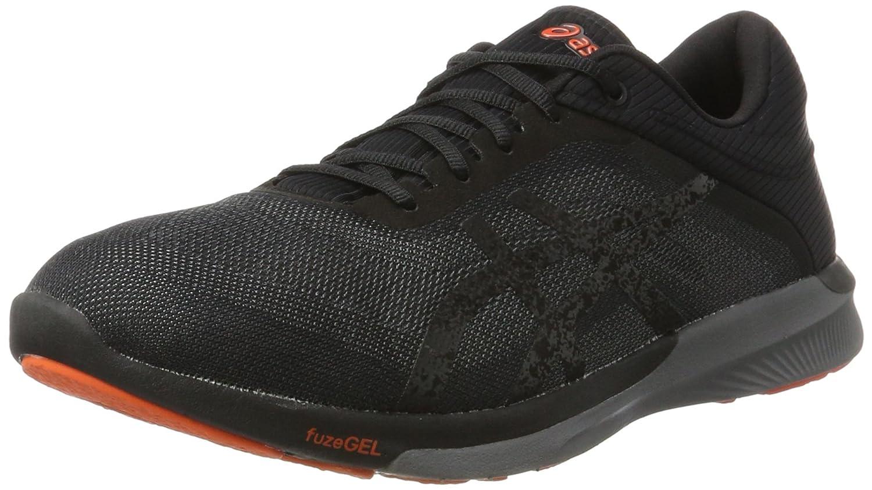 Asics Fuzex Rush, Zapatillas para Hombre 47 EU|Negro (Black/Carbon/Cherry Tomato)