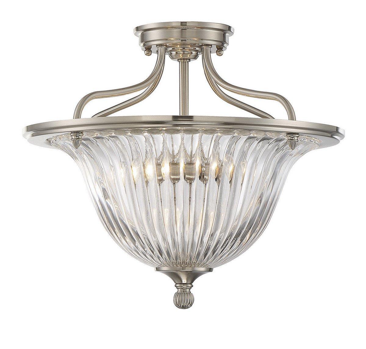 Savoy House Three Light Convertible Semi-Flush 6-151-3-SN