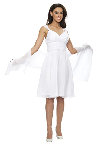 Astrapahl - Estola de mujer para llevar con un vestido de noche, color blanco, talla 45 x 180 cm: Amazon.es: Ropa y accesorios