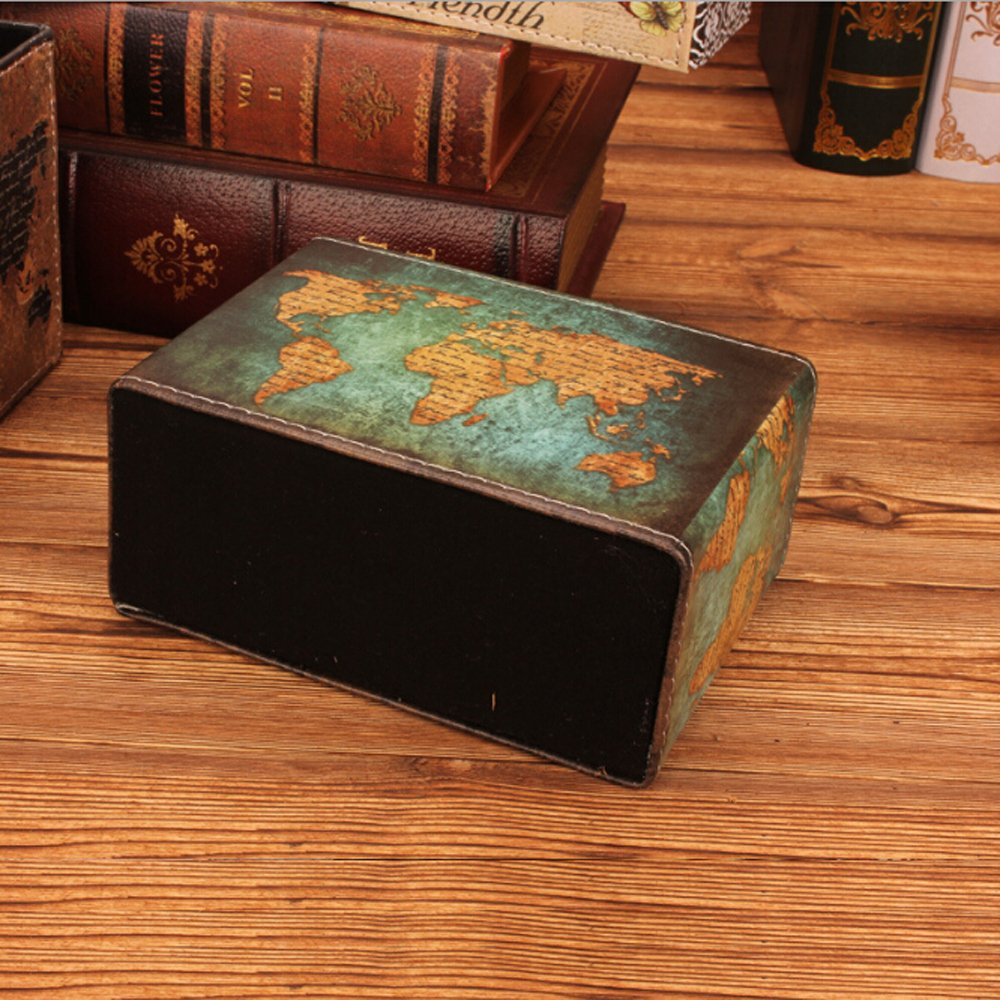 Amazon.com : Vintage PU Leather Pen Holder Desktop Stand Pencil Cup Pot Rectangle Container Organizer for Pens, Utensils, Office Supplies Caddy, ...