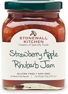 product image for Stonewall Kitchen Strawberry Apple Rhubarb Jam, 12.5 Ounces