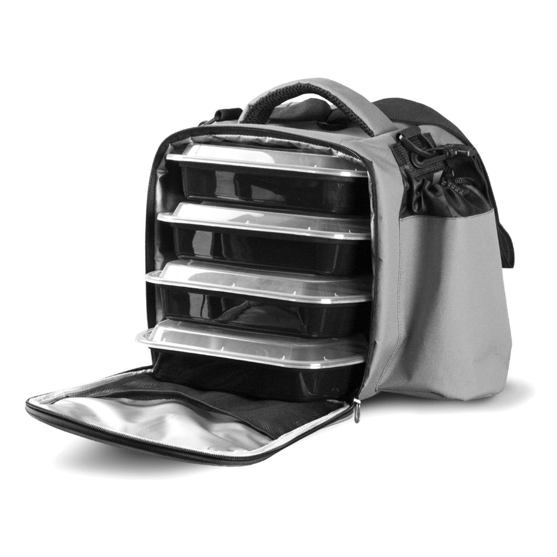 Fitpacker Meal Management Bag for Meal Prep, Portion Control - Insulated (Carbon Steel V2.1)