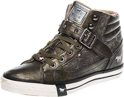 Mustang Shoes High Top Sneaker in Übergrößen Oliv 1146 523 77 große Damenschuhe