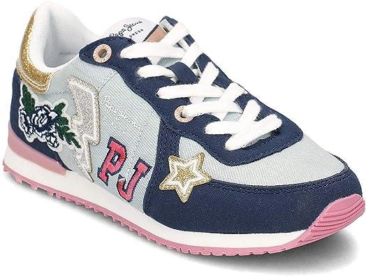 Parches de Pepe Jeans Sydney PGS30392000, Azul (Azul), 35 EU: Amazon.es: Zapatos y complementos