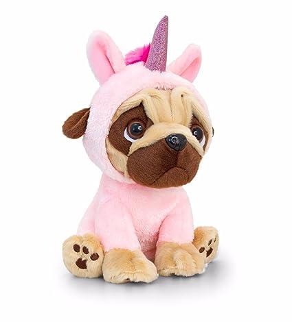 Amazoncom Pugsley 14cm Pink Unicorn Pug Dog Soft Toy Teddy Sd1232
