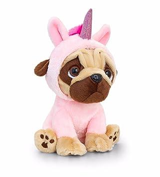 Pugsley 14cm Rosa Unicornio Pug perro peluche Teddy SD1232