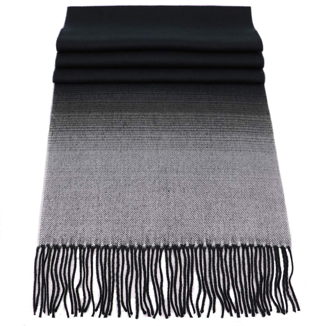 Rosemarie Collections 100% Cashmere Winter Scarf Made In Scotland SG-60PA-STEL