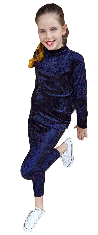 GUBA® New Kids Girls Velour Tracksuit TOP & Bottom Set Velvet Loungewear CO ORD Suit Size 7-13 Years