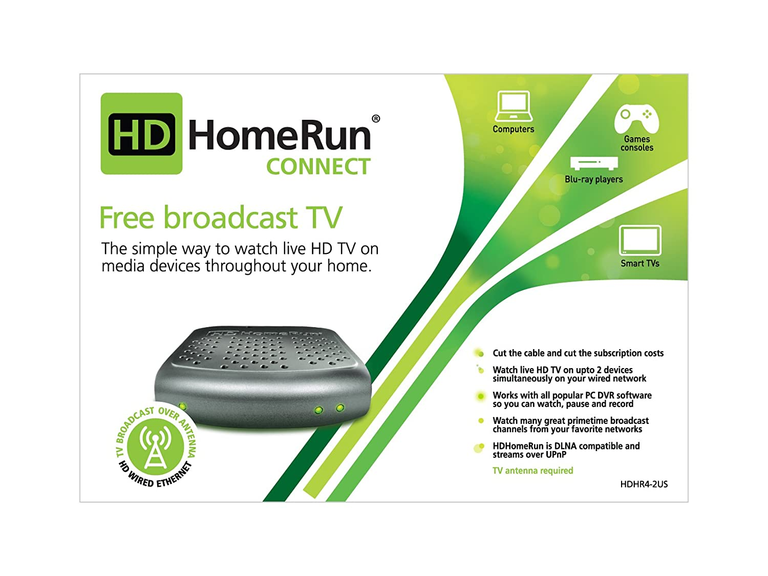 SiliconDust HDHomeRun CONNECT  FREE broadcast HDTV (2-Tuner)