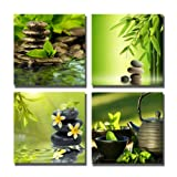 Amazon Price History for:Yin Art-Spa Theme Canvas Print Green Bamboo Flower Stones and Teapot Wall Art Modern Artwork 30x30cm