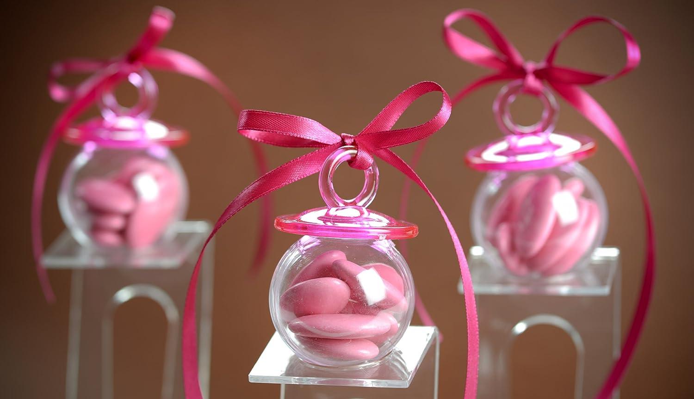 Baby Schnuller zum bef/üllen Babyparty in pink 4 St/ück Palandi/®