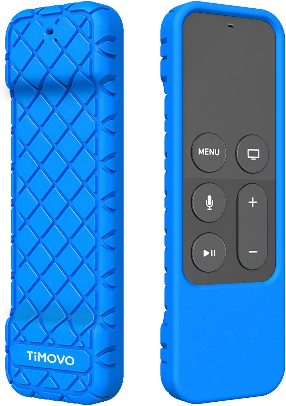 TiMOVO Protective Case Compatible for Apple TV 4K/4th Gen Remote, Anti Slip & Shock Proof Skin, Lightweight Soft Silicone Cover Fit Apple TV 4K Siri Remote Controller - Blue