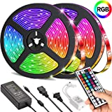 LED Strip Lights,UMICKOO 32.8ft 10m RGB 300LEDs Waterproof Light Strip Kits with Infrared 44 Key, Suitable for Room,TV, Ceili