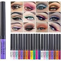 Greyghost Zestaw eyelinerów, wielokolorowy, matowy, płynny eyeliner w jaskrawych kolorach, wodoodporny, zestaw z wysoko…