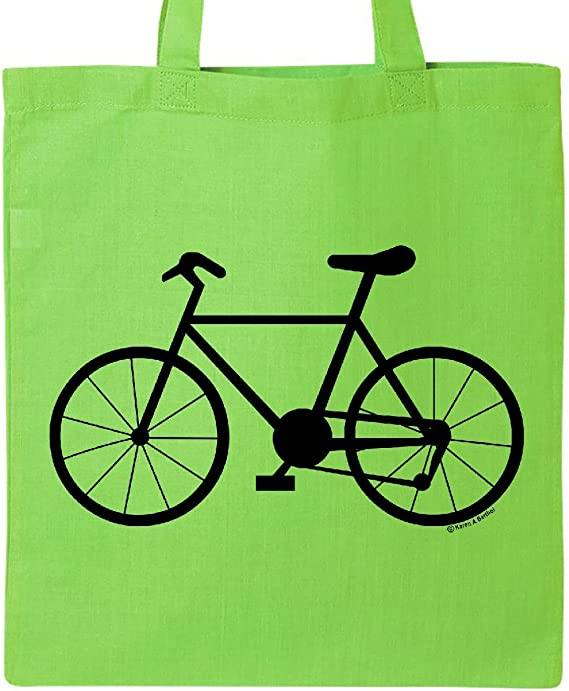 inktastic bicicleta silueta Tote Bag talla única lime green ...