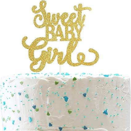 Amazon.com: Adorno para tartas para bebé, para niñas de 1 ...