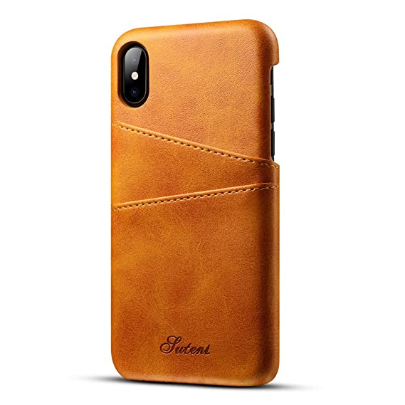 outlet store 7f2d7 0b95c Amazon.com: Lnobern [Suteni]Leather Case for iPhone X 5.8 inch ...