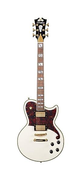 DAngelico Deluxe Atlantic guitarra eléctrica – Vintage blanco