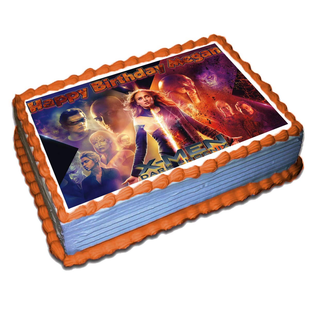 Awesome X Men Dark Phoenix Personalized Cake Topper Icing Sugar Paper 8 5 Funny Birthday Cards Online Barepcheapnameinfo
