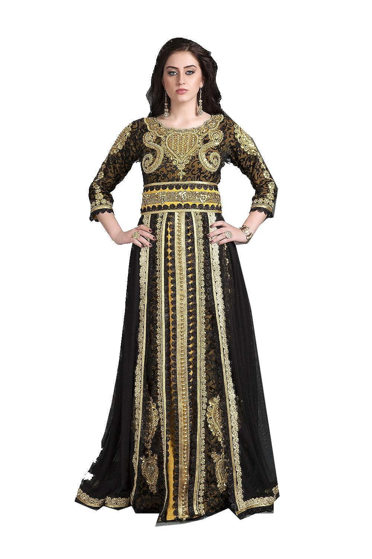 Black,gold 8 Da Facioun Indian Women Designer Latest Fancy Party Wear Heavy Kaftan