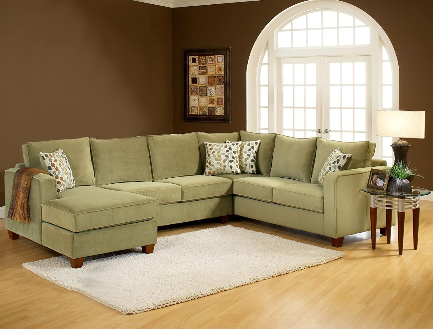 Amazon.com: Chelsea Home Furniture Bailey 3pc. Sectional, Bella Lichen:  Kitchen U0026 Dining