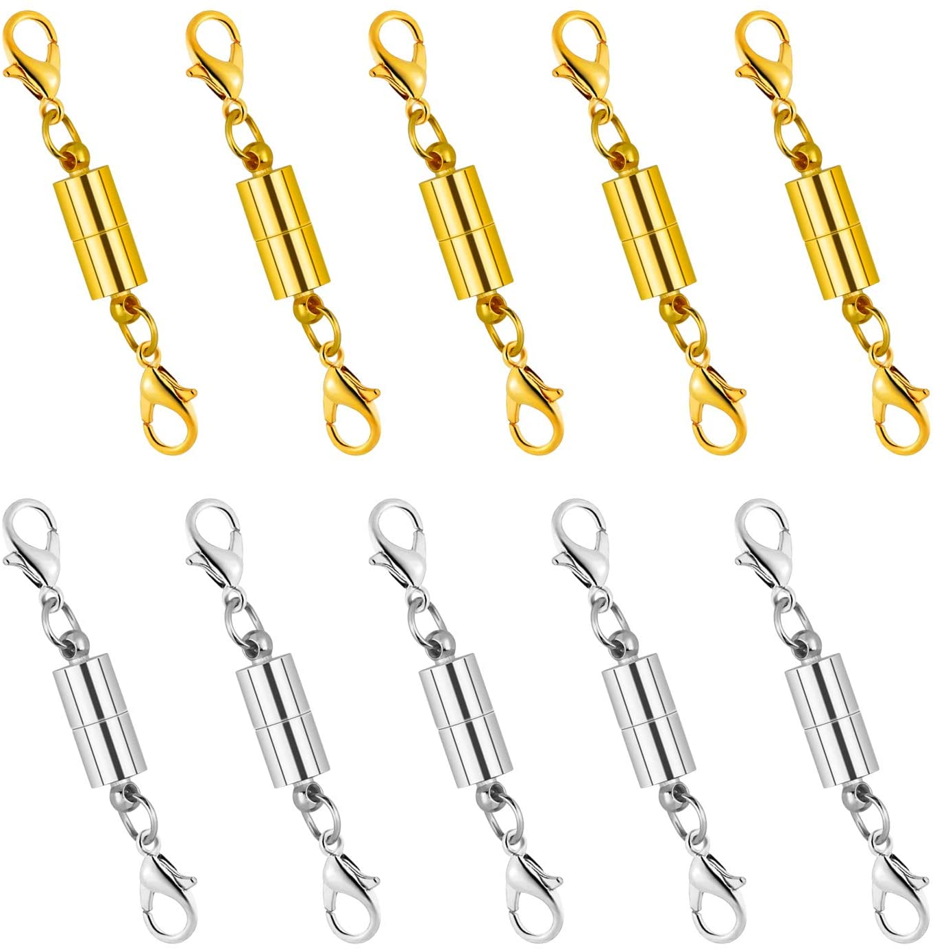 10X Round Magnetic Clasps Claw Chain Extender Bracelet Necklace Jewelry Finding