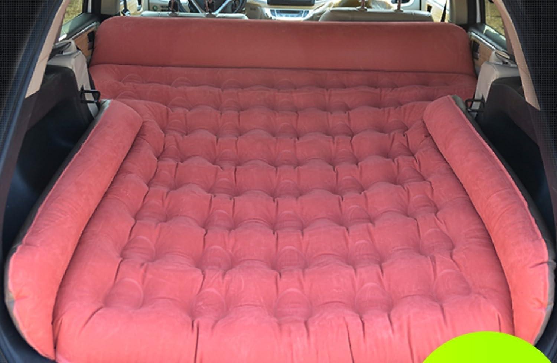 ERHANG Luftbetten Betten Aufblasbare Bett Auto Reisebett SUV Rear Seat Auto Schlafmatte,ROT