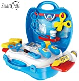 Smartcraft Little Doctor's Bring Along Medical Clinic Suitcase Set - 18 Pieces , Doctor Play Set Toy, Role Play Toy for Kids
