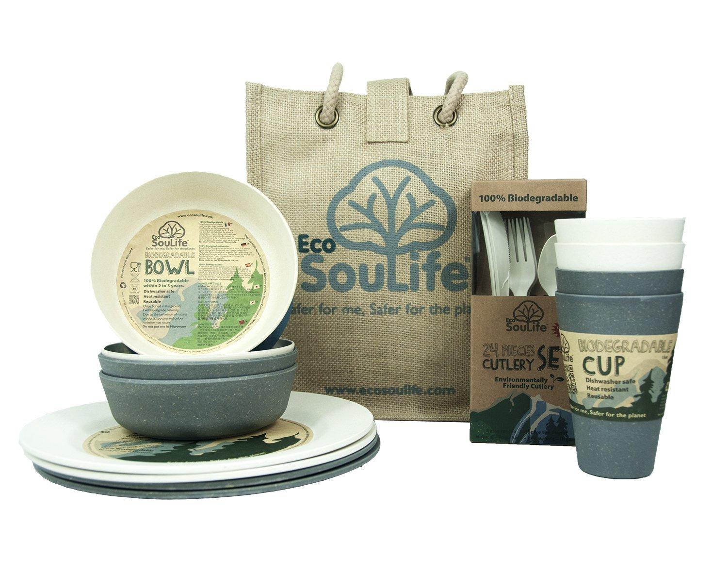 EcoSouLife Biodegradable Picnic Set