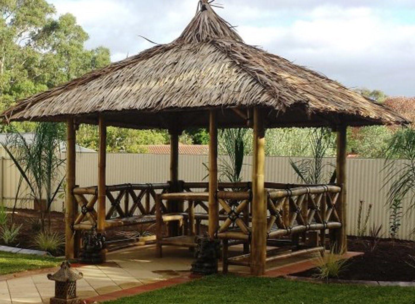 Bali Cenador, gazebo, Bali cabaña de bambú con laterales, mesa y ...