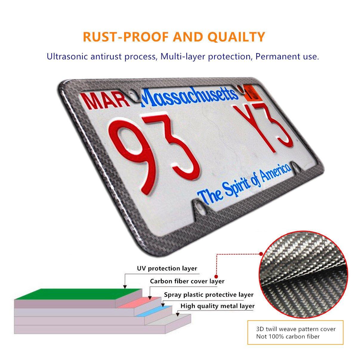 Neue 100% Carbon Faser Nummernschild Rahmen -3d Twill Faser ...