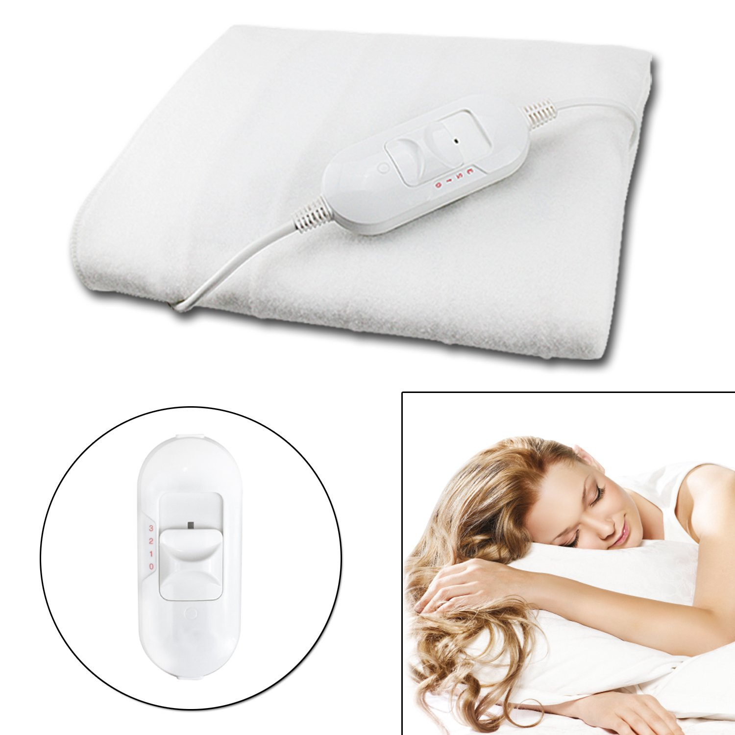 Guaranteed4Less Electric Blanket Heated Under Luxury Single Size Bed Washable Fleece