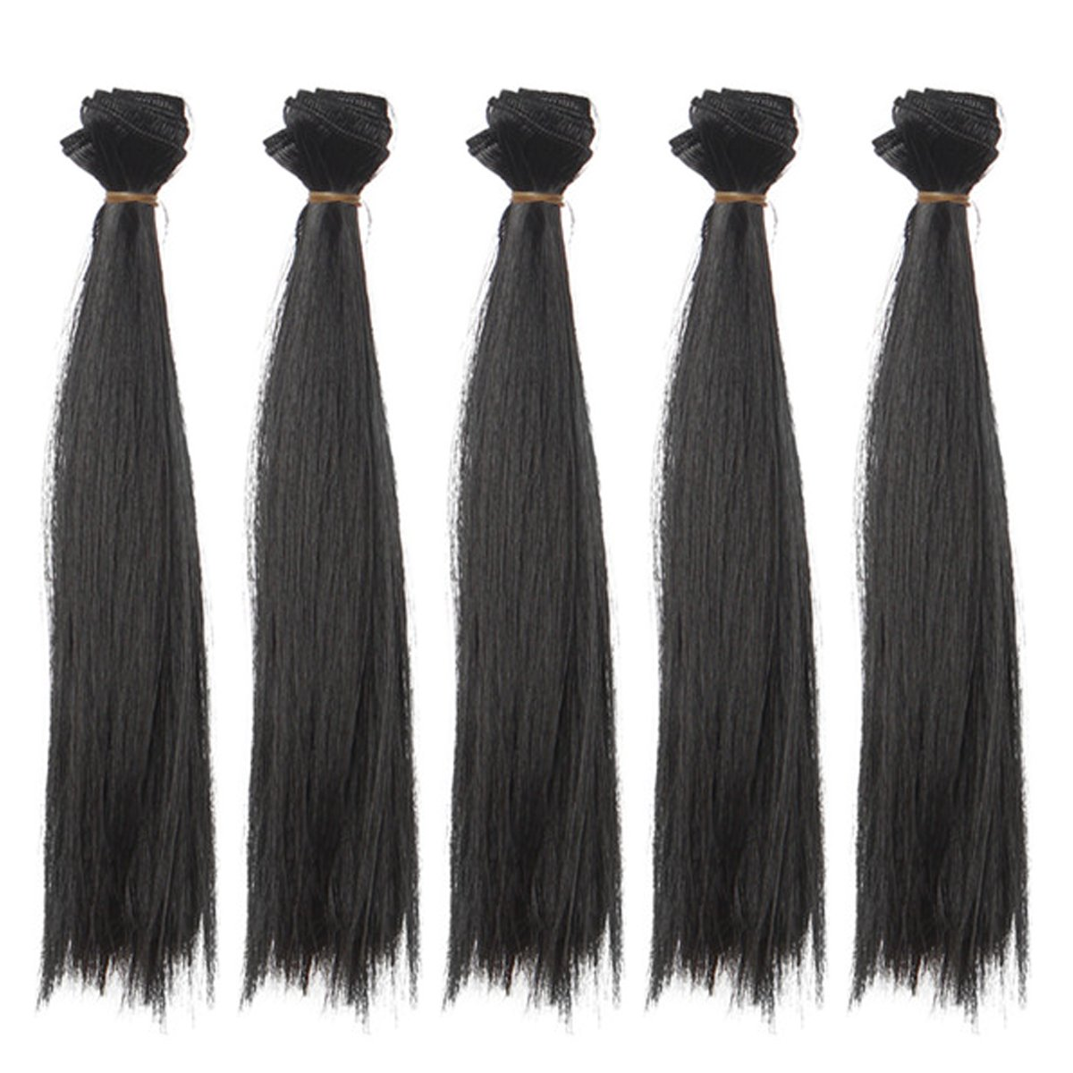 25x100cm Gorgeous Straight Solid White Heat Resistant Hair Extensions Handcraft Materials 5pcs/lot Leeswig