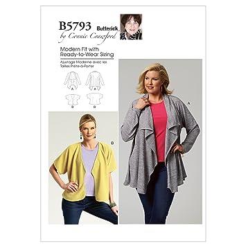Butterick Schnittmuster 5793 MISS Damen Kimonojacke,Kimono Jacket ...