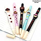 My Party Suppliers Kids and Students Plastic Cute Kawaii Chocolate Biscuit Ballpoint Gel Pen (Multicolour) - Set of 4