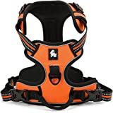fiE FIT INTO EVERYWAY No Pull Dog Harness Outdoor Adventure 3M Reflective Pet Vest with Handle Adjustable Protective Nylon Walking Pet Harness Orange S